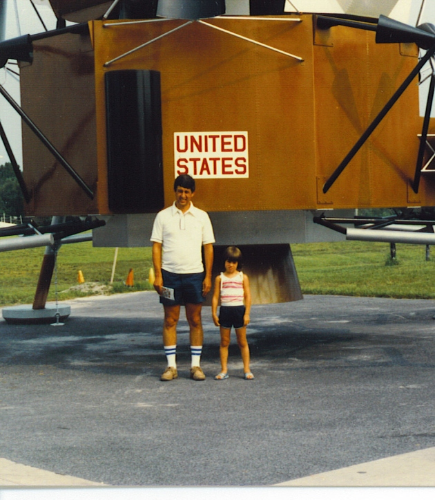 Dad and Me at the Space Center